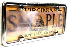 Clear Anti Photo Radar License Plate Cover & Chrome Metal Frame Combo w/ Bolt Caps