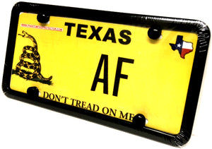 Phantom Tag Protector Automobile Black Metal License Plate Frame