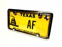 License Plate Cover & Chrome Frame Combo | Clear Cover w/ Chrome Metal Frame & Bolt Caps