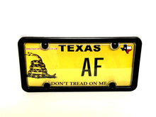 License Plate Cover & Black Frame Combo | Clear Cover w/ Black Metal Frame & Bolt Caps