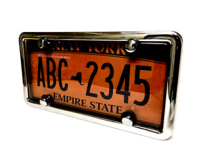 License Plate Cover & Frame Combo | Smoked Cover w/ Chrome Frame & Bolt Caps