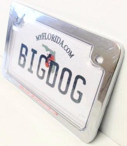 Motorcycle Clear License Plate Cover & Metal Frame Combo
