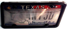 Smoked/Tinted Anti Photo Radar License Plate Cover & Black Metal Frame Combo w/ Bolt Caps