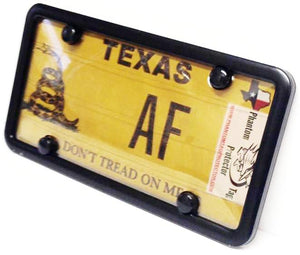 License Plate Cover & Frame Combo | Smoked Cover w/ Black Metal Frame & Bolt Caps