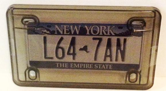 Motorcycle Clear Amp Smoked License Plate Cover Phantom