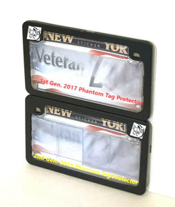 Motorcycle Clear Anti Photo Radar License Plate Cover & Black Metal Frame Combo | All-New 2019 2nd Gen.