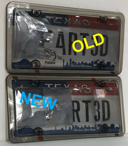All NEW 2019 2nd Generation Phantom Tag Protector Clear Anti Photo License Plate Cover & Chrome Bolt Caps