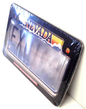 Motorcycle Clear Anti Photo Radar License Plate Cover & Black Metal Frame Combo