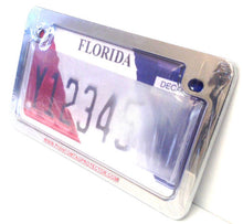 Motorcycle Clear Anti Photo Radar License Plate Cover & Metal Frame Combo