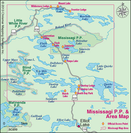 Chrismar Mississagi Provincial Park Amp Area Map Outdoors