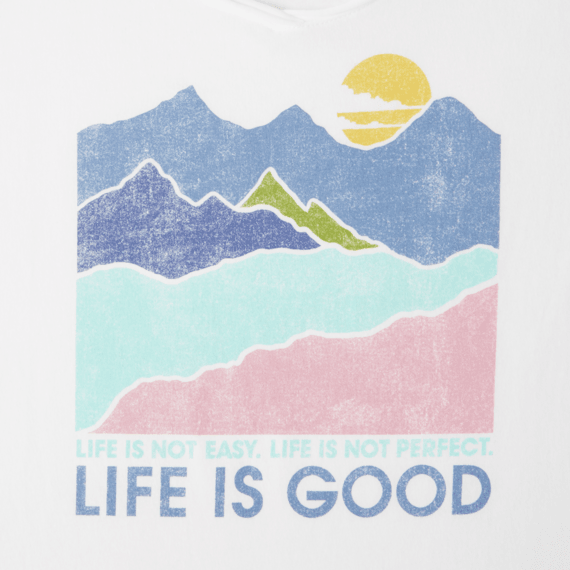0b5e81d87a1 Life Is Good Smooth Scoop SS Life Isn t Easy Mountains - Women s