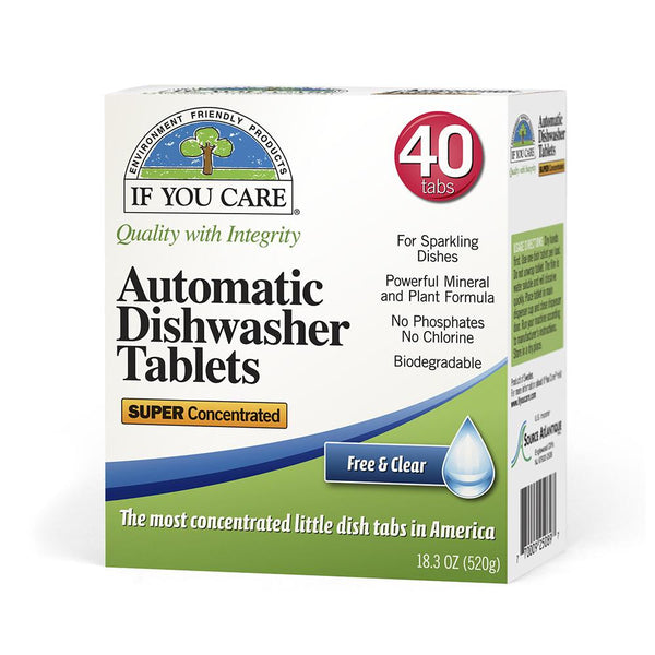 If You Care Automatic Dishwasher Tabs - 40 Count - Case of 8 -Dishwashing- Allergy Free Me