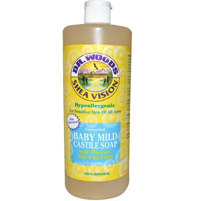Dr. Woods Shea Vision Pure Castile Soap Baby Mild with Organic Shea Butter - 32 fl oz - {shop_name}