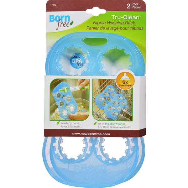 Bornfree/Summer Infant Tru Clean Nipple Wash Rack - 2 Pack -Dishwashing- Allergy Free Me