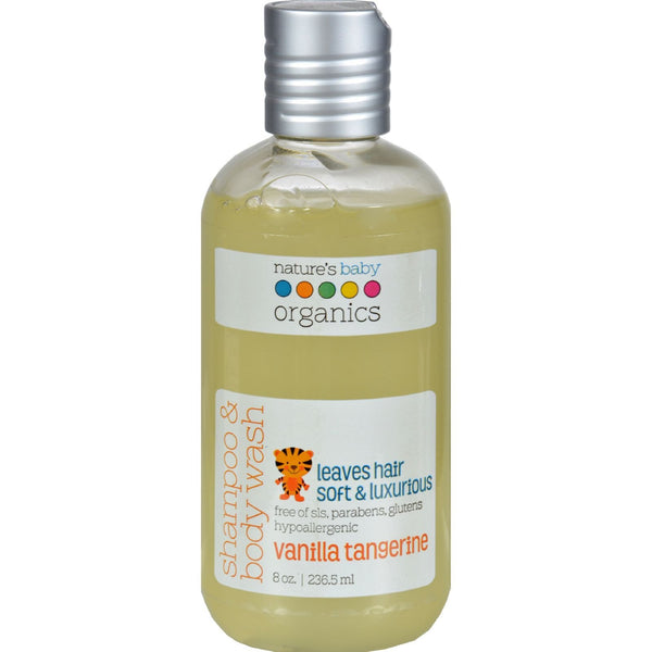 Nature's Baby Organics Shampoo and Body Wash Vanilla Tangerine - 8 fl oz - {shop_name}