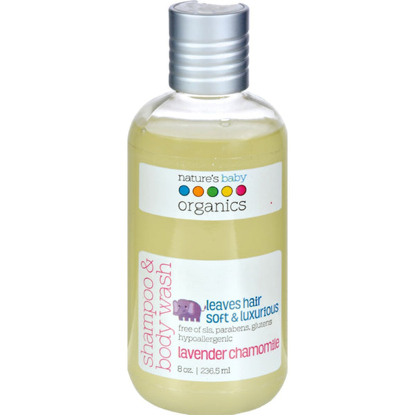 Nature's Baby Organics Shampoo and Body Wash Lavender Chamomile - 8 fl oz - {shop_name}