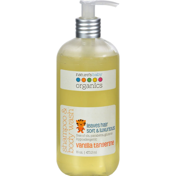 Nature's Baby Organics Shampoo and Body Wash Vanilla Tangerine - 16 fl oz - {shop_name}