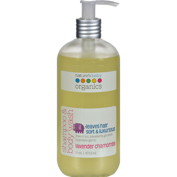 Nature's Baby Organics Shampoo and Body Wash Lavender Chamomile - 16 fl oz - {shop_name}