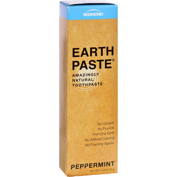 Redmond Trading Company Earthpaste Natural Toothpaste Peppermint - 4 oz -Oral Care- Allergy Free Me
