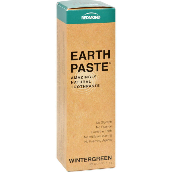Redmond Trading Company Earthpaste Natural Toothpaste Wintergreen - 4 oz -Oral Care- Allergy Free Me