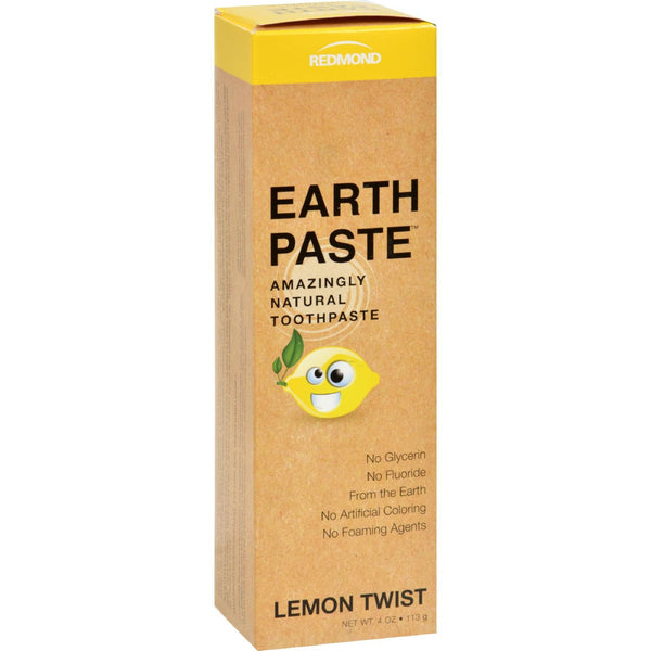 Redmond Trading Company Earthpaste - Lemon Twist - 4 oz -Oral Care- Allergy Free Me