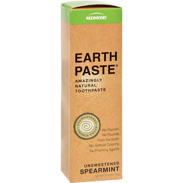 Redmond Trading Company Earthpaste - Spearmint - 4 oz -Oral Care- Allergy Free Me