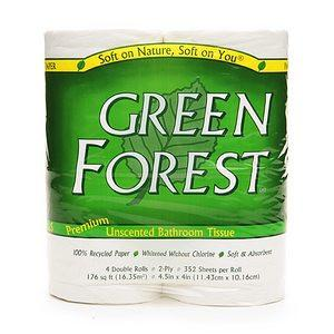 Green Forest Premium Bathroom Tissue - Unscented 2 Ply - Case of 12 - {shop_name}