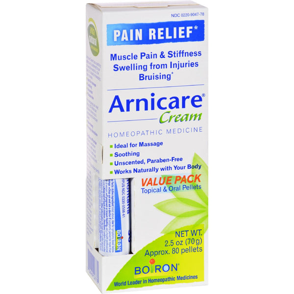 Boiron Arnicare Cream Value Pack with 30 C Blue Tube - 2.5 oz - {shop_name}