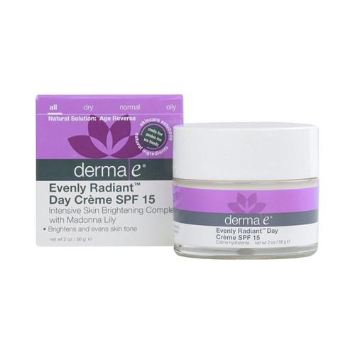 Derma E Evenly Radiant Day Creme SPF 15 - 2 oz - {shop_name}
