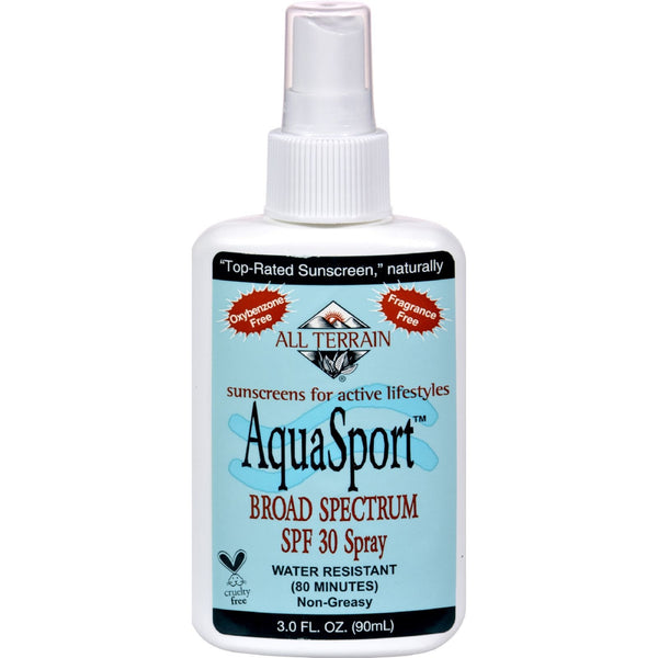 All Terrain AquaSport SPF 30 Spray - 3 fl oz -Sun Protection & Tanning- Allergy Free Me