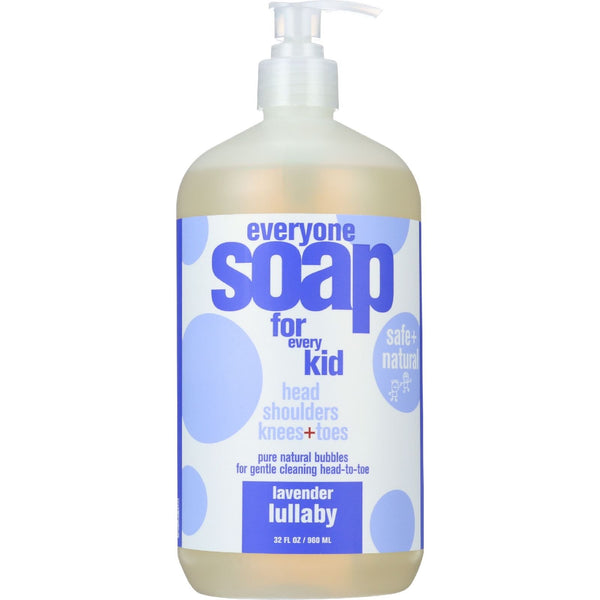 EO Products Soap - Everyone for Kids - 3-in-1 - Lavender Lullaby Botanical - 32 oz - 1 each -Baby Bath & Shampoo- Allergy Free Me