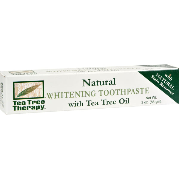 Tea Tree Therapy Natural Whitening Toothpaste - 3 oz -Oral Care- Allergy Free Me