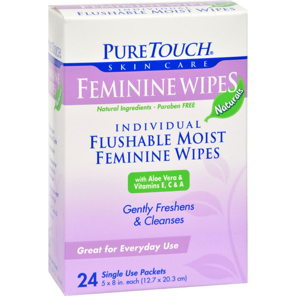 Puretouch Feminine Wipes Flushable - 24 Wipes - {shop_name}