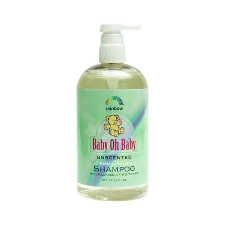 Rainbow Research Baby Oh Baby Organic Herbal Shampoo - Unscented - 16 oz -Baby Bath & Shampoo- Allergy Free Me