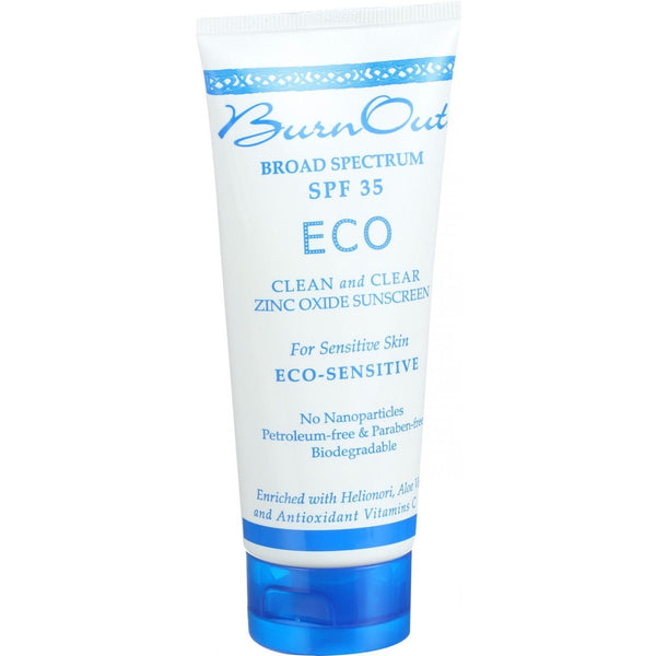 Burn Out Sunscreen - Eco Sensitive - SPF 35 - 3 oz -Sun Protection & Tanning- Allergy Free Me