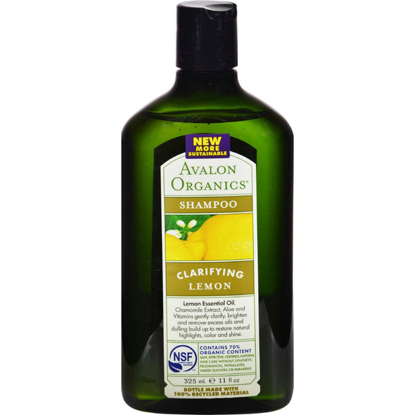 Avalon Organics Clarifying Shampoo Lemon with Shea Butter - 11 fl oz - {shop_name}