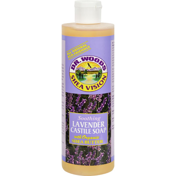 Dr. Woods Shea Vision Pure Castile Soap Lavender with Organic Shea Butter - 16 fl oz - {shop_name}