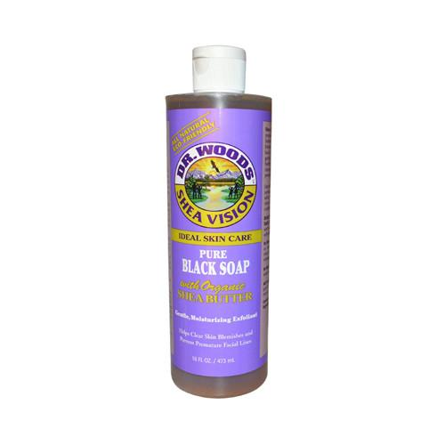 Dr. Woods Shea Vision Pure Black Soap with Organic Shea Butter - 16 fl oz - {shop_name}