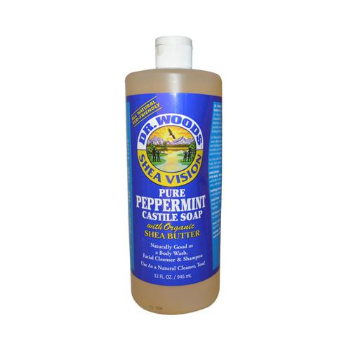 Dr. Woods Shea Vision Pure Castile Soap Peppermint with Organic Shea Butter - 32 fl oz - {shop_name}
