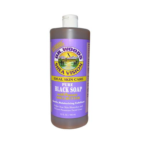 Dr. Woods Shea Vision Pure Black Soap with Organic Shea Butter - 32 fl oz - {shop_name}