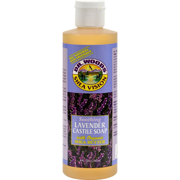 Dr. Woods Shea Vision Pure Castile Soap Lavender with Organic Shea Butter - 8 fl oz - {shop_name}
