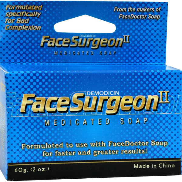 Face Doctor Face Surgeon II Medicated Soap - 2 oz -Facial Cleanser- Allergy Free Me