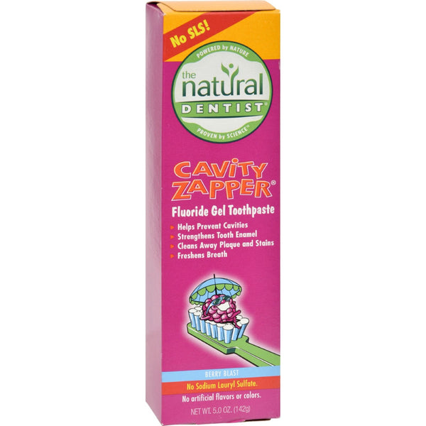 Natural Dentist Cavity Zapper Anticavity Gel Toothpaste Berry Blast - 5 oz - {shop_name}