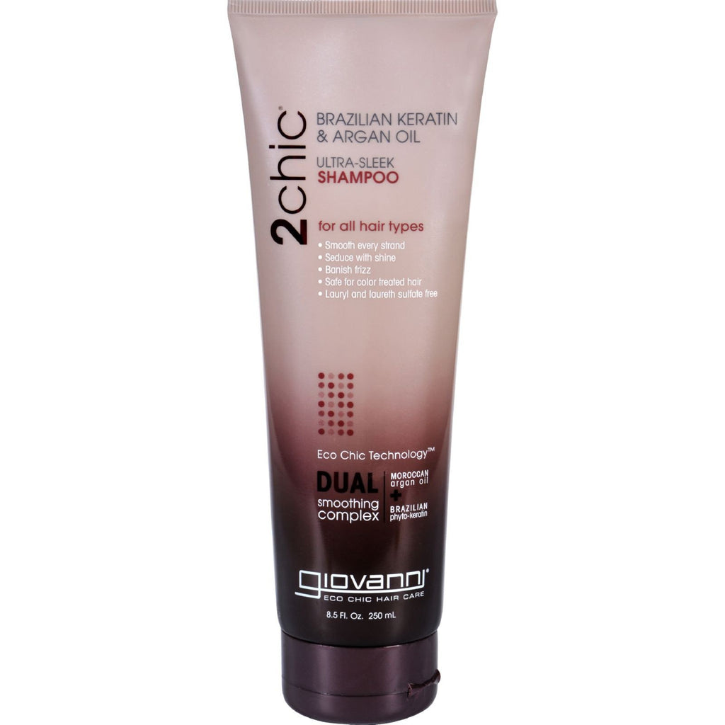 Giovanni 2chic Ultra-Sleek Shampoo with Brazilian Keratin and Argan Oil - 8.5 fl oz - {shop_name}