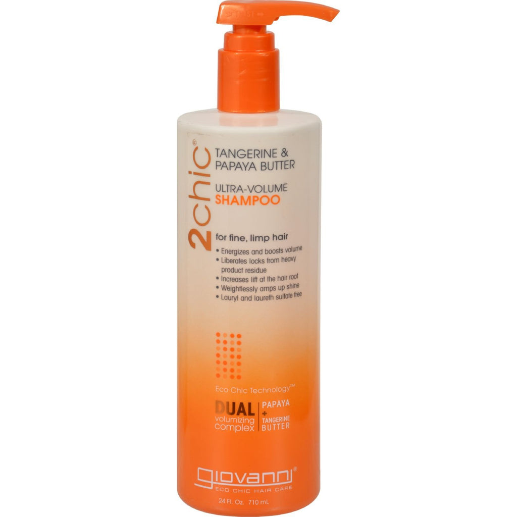 Giovanni Hair Care Products 2chic Shampoo - Ultra-Volume Tangerine and Papaya Butter - 24 fl oz - {shop_name}