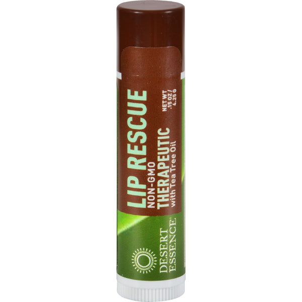 Desert Essence Lip Rescue Therapeutic with Tea Tree Oil - 0.15 oz - Case of 24 - {shop_name}