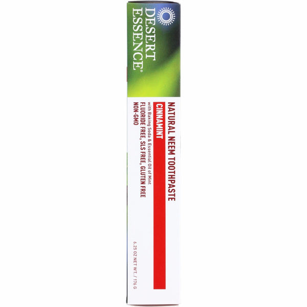 Desert Essence Toothpaste - Neem - Cinnamint - 6.25 oz - 1 each -Oral Care- Allergy Free Me