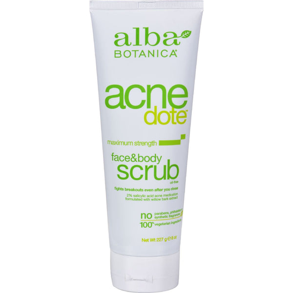 Alba Botanica Natural Acnedote Face and Body Scrub - 8 fl oz - {shop_name}