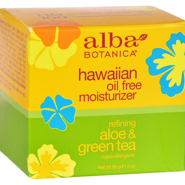 Alba Botanica Hawaiian Aloe and Green Tea Moisturizer Oil-Free - 3 oz - {shop_name}