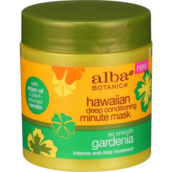 Alba Botanica Deep Conditioning Minute Mask - Hawaiian - So Smooth Gardenia - 5.5 oz - {shop_name}